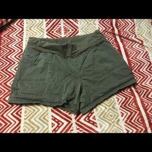 Pants - Green maternity shorts
